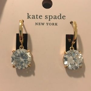 Kate Spade Diamond/Gold Huggies. NWT